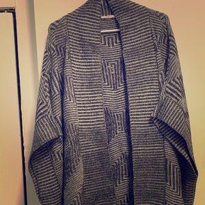 Chevron knit oversized shawl/cardigan. 1X